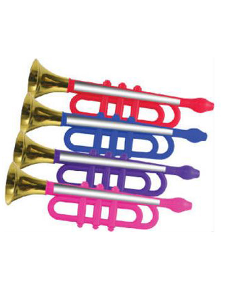 """13"""" Metallic Plastic Trumpet"""