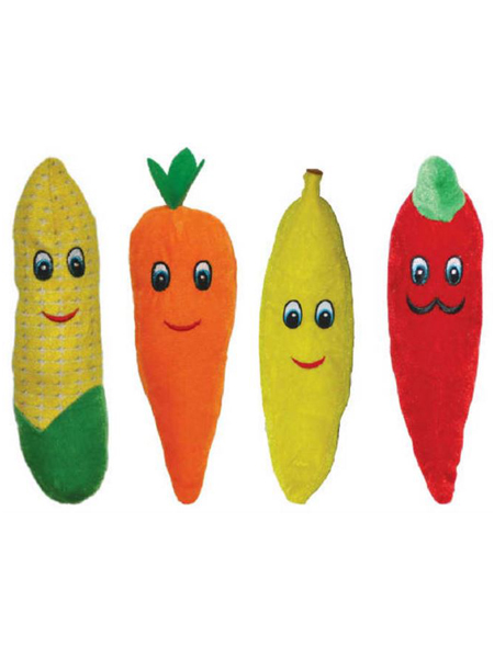 "8"" Assorted Plush Veggies & Fruit"