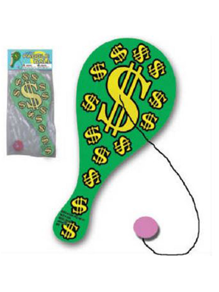 "9"" Money $$$ Paddle Ball"