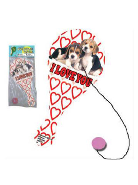 9 inch Puppy Love Paddle ball -WEB