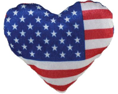 "6"" Plush USA Flag Heart"