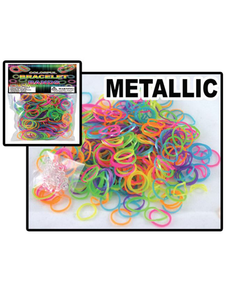 Metallic Loom Bracelet Band Bag